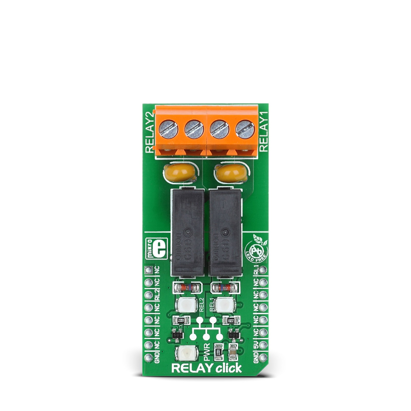 Relay Click Board Features Two G6d1aasi 5dc Power Pcb Modules Relays A Is An Electrically Operated Switch Current Flowing Mgctlbxnmzp Mgctlbxv5112 Mgctlbxlc Mgctlbxpprestashop
