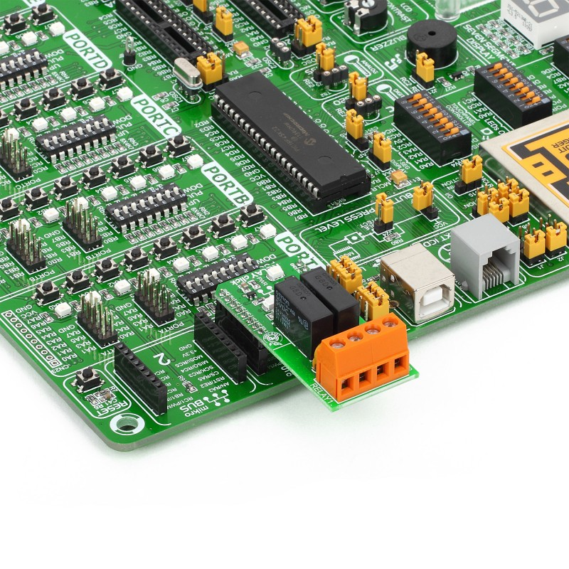 RELAY Click - board features two G6D1AASI-5DC power PCB relay modules