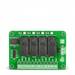 MikroE Add-On Boards Miscellaneous Relay4 Board