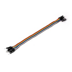Ribbon Cable 10-wire, Male/Female, 20 cm