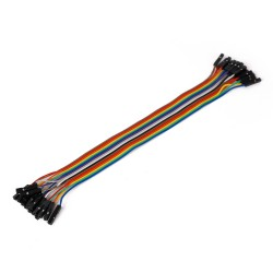 Ribbon Cable 16-wire, Female/Female, 20 cm