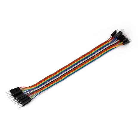 MikroElektronika Ribbon Cable 16-wire, Male/Male, 20 cm