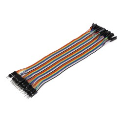Ribbon Cable 40-wire, Male/Female, 20 cm