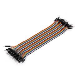 Ribbon Cable 40-wire, Male/Male, 20 cm