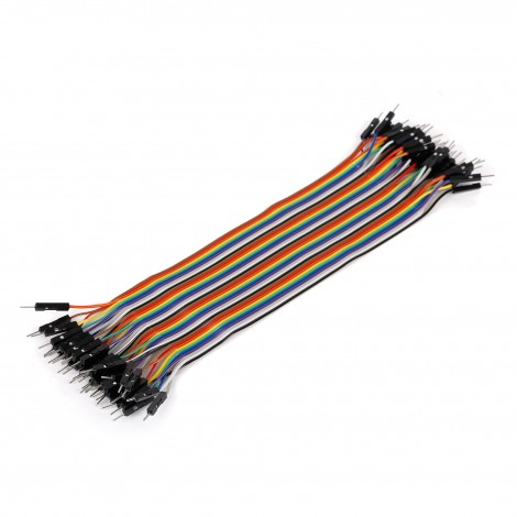 Ribbon Cable 40-wire, Male/Male, 20 cm