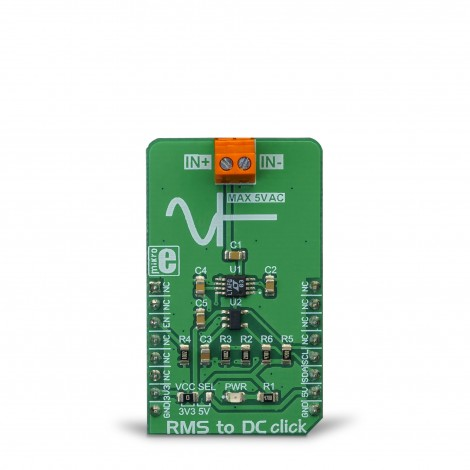 MikroElektronika Click Boards Mixed-Signal RMS to DC click front