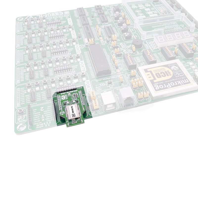 RN4678 click carries the RN4678 module from Microchip