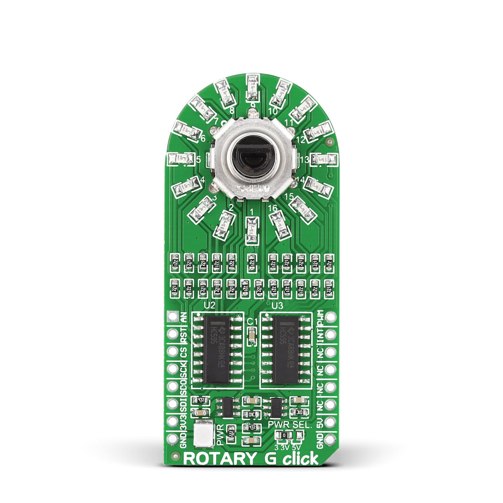 Rotary Click — board with incremental rotary encoder and LED ring