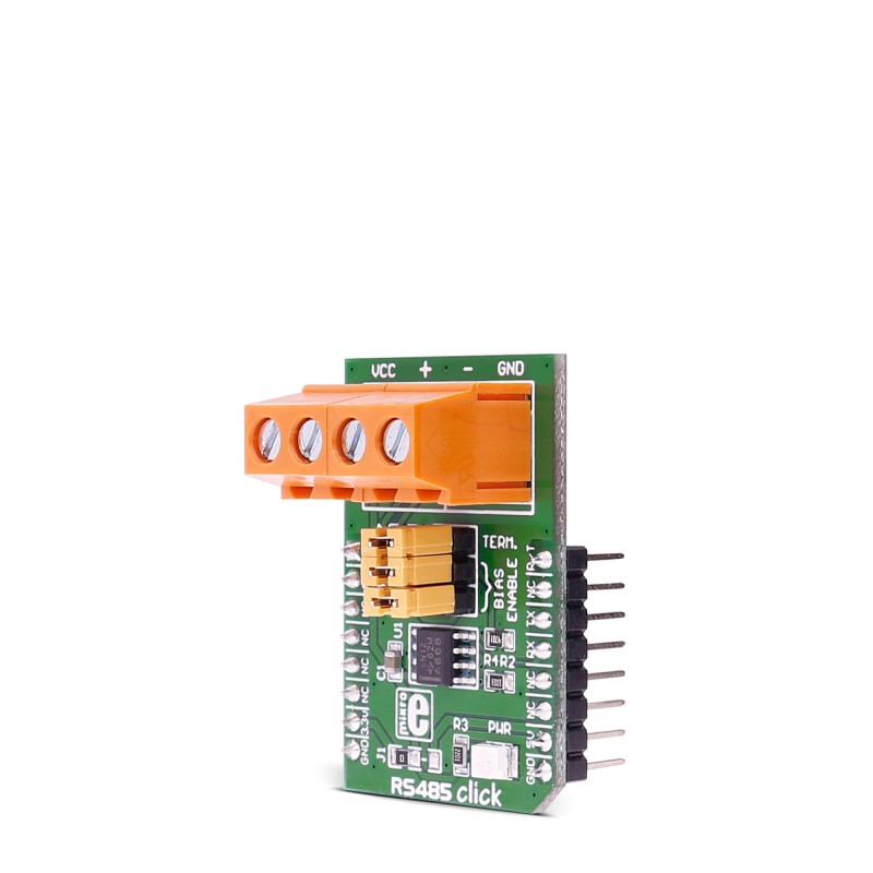 RS485 click 3.3V - Breakout board for SN65HVD12 transciever IC on rs485 wiring spec, rs485 ptz wiring, rs485 wiring standard,