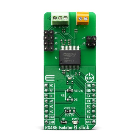 Click Boards Interface RS485 RS485 Isolator 2 Click Front