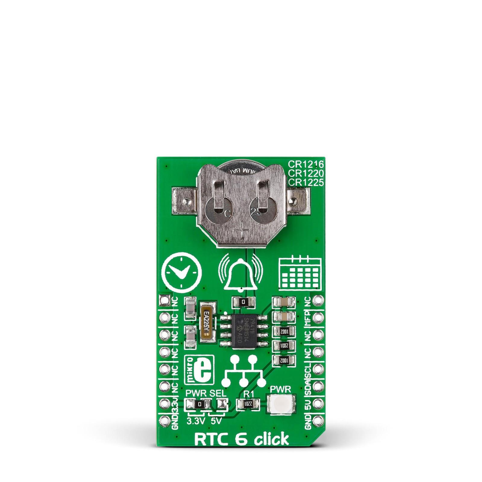 rtc6 click \u2013 board with microchip\u0027s mcp79410 real time clock calendar