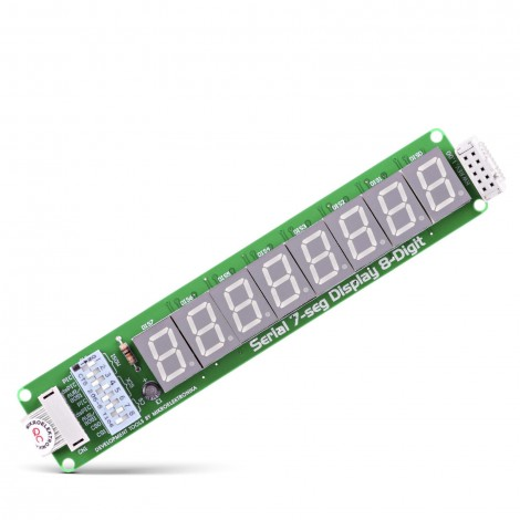 Serial 7-Seg 8-Digit Board