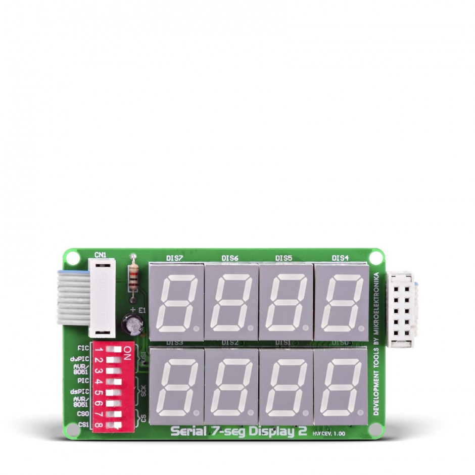 Serial 7 Seg Display 2 Board X 4 Digit Seven Segment Bcd To Sevensegment Decoder With A Led