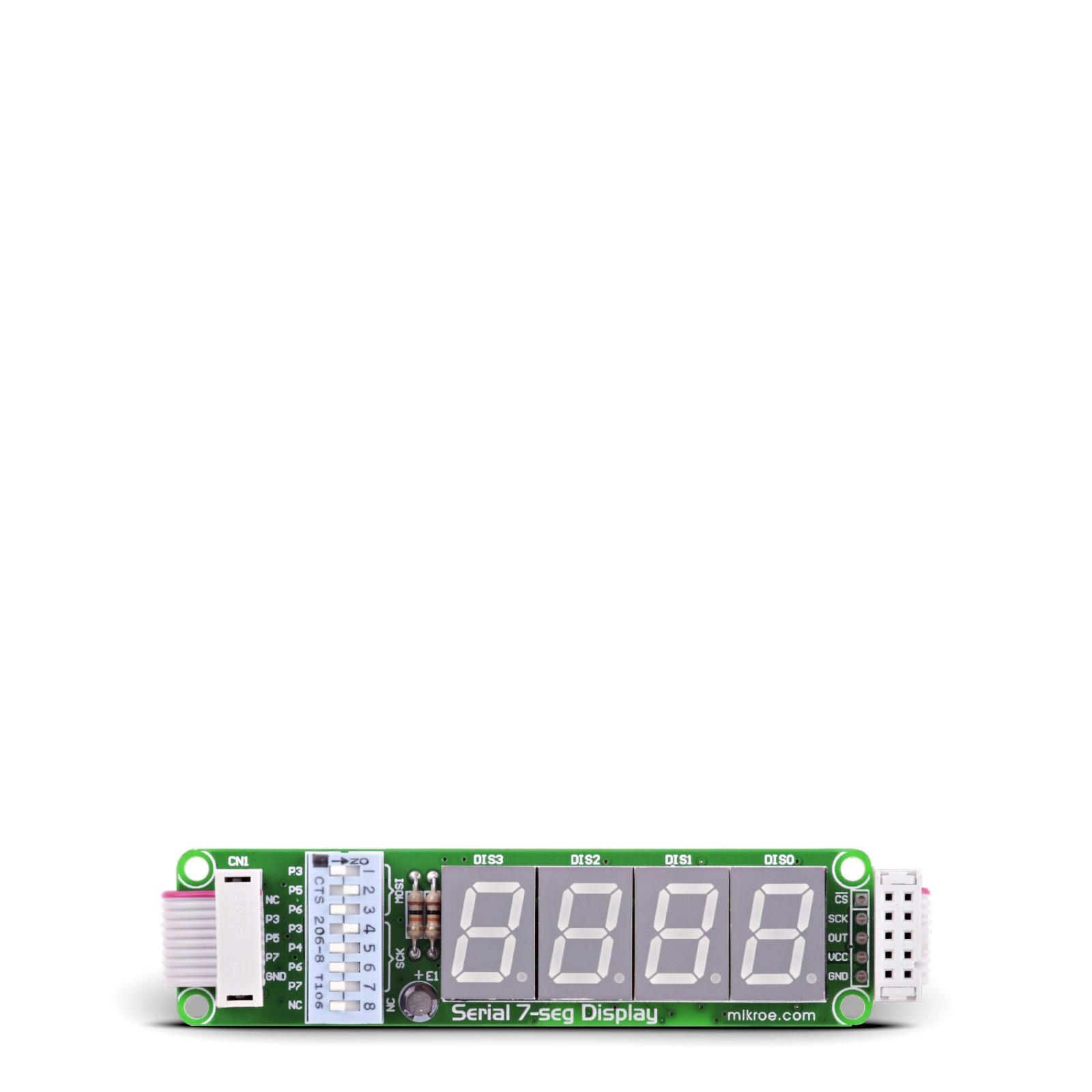 Serial 7-seg Display Board - 4-digit Seven segment Display