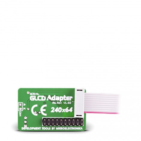 Serial GLCD 240x64 Adapter Board