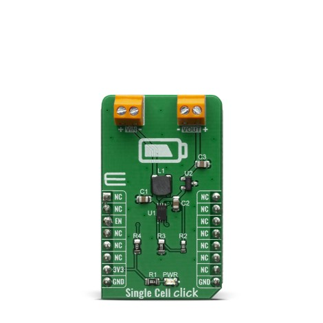 Shop Click Boards Power Management Single Cell Click Front