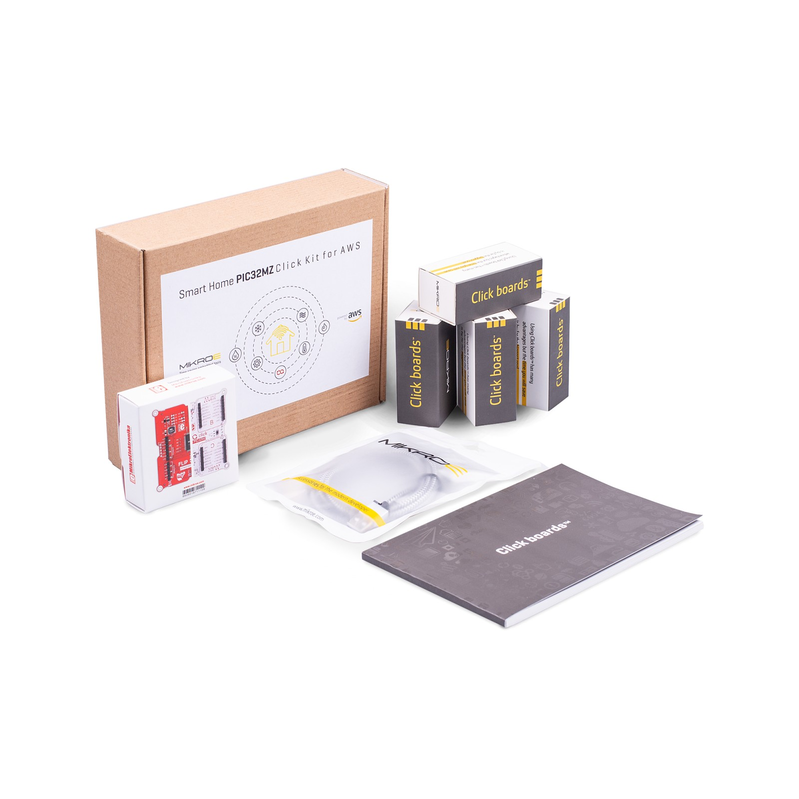 Smart Home PIC32MZ Click Kit for AWS