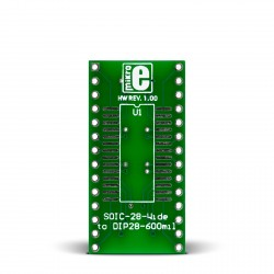 SOIC-28-Wide to DIP28-600mil Adapter
