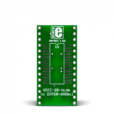 MikroE SOIC-28-Wide to DIP28-600mil Adapter