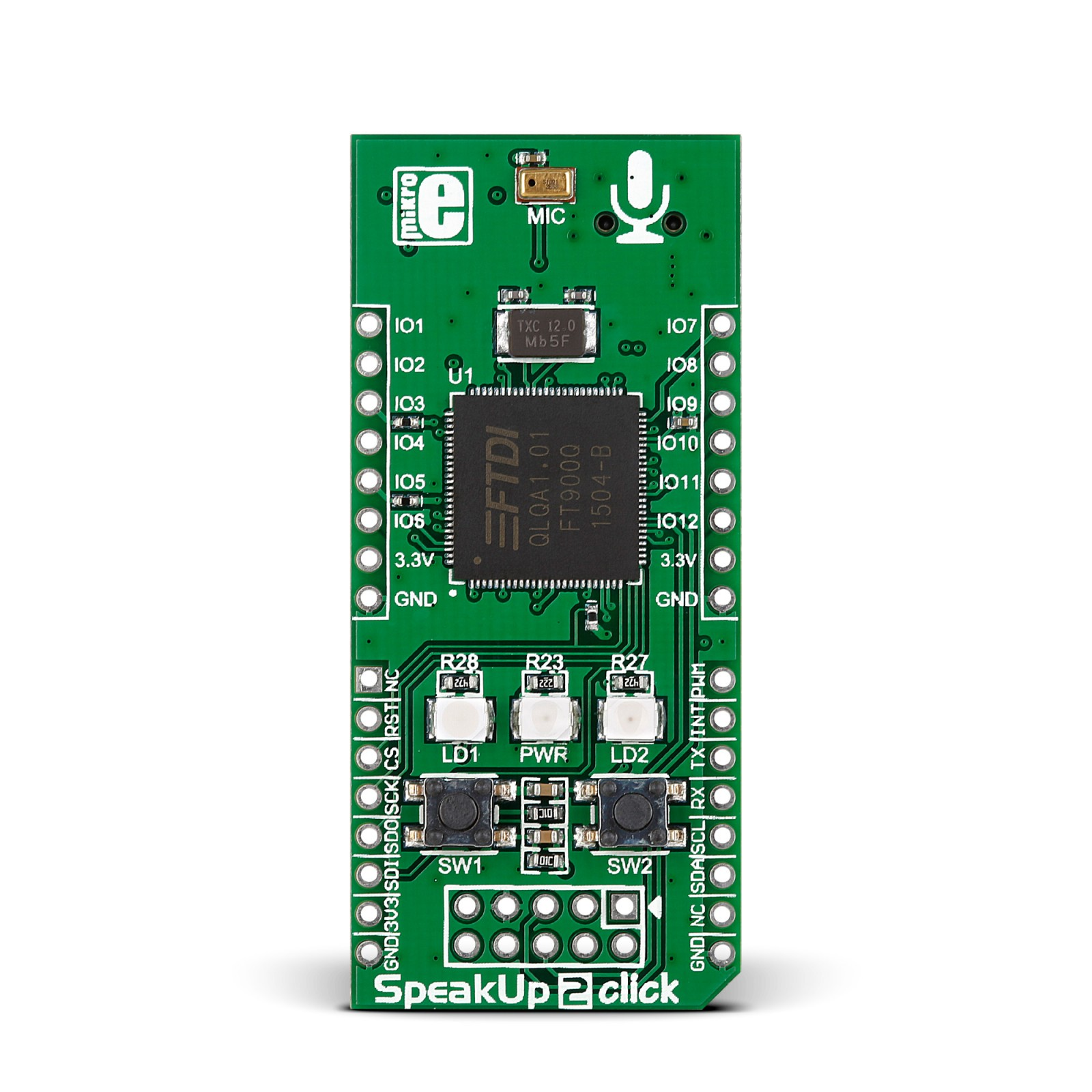 speakup 2 speech recognition click board for recognizing over 100