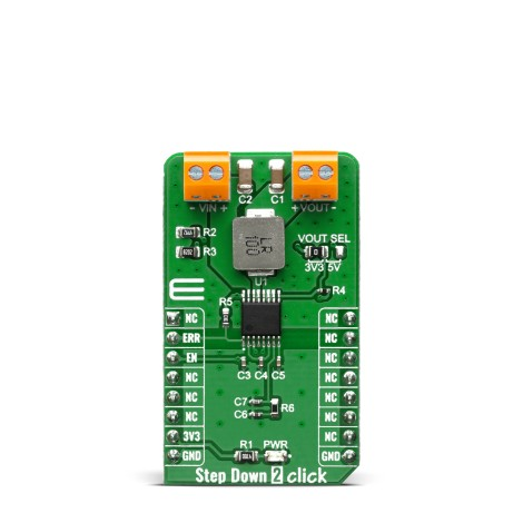 Click Boards Power Management Buck Step Down 2 Click Front