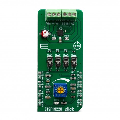Mikroe Click Boards Motor Control STSPIN220 click front