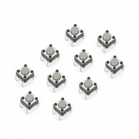 MikroElektronika Buttons and Switches Tact Switch 6x6mm (10pcs)