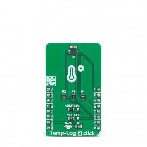 MikroE Click Boards Sensors Temp-Log 3 Click front