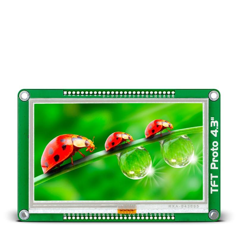MIKROE-1678 Display Development Tools TFT Proto 4.3 INCH