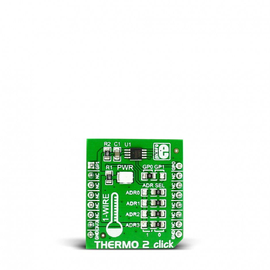 Thermo 2 Click Board With Ds1825 1 Wire Temperature Sensor 8051 Microcontroller Based Digital Alarm Clok Thermometer Circuit