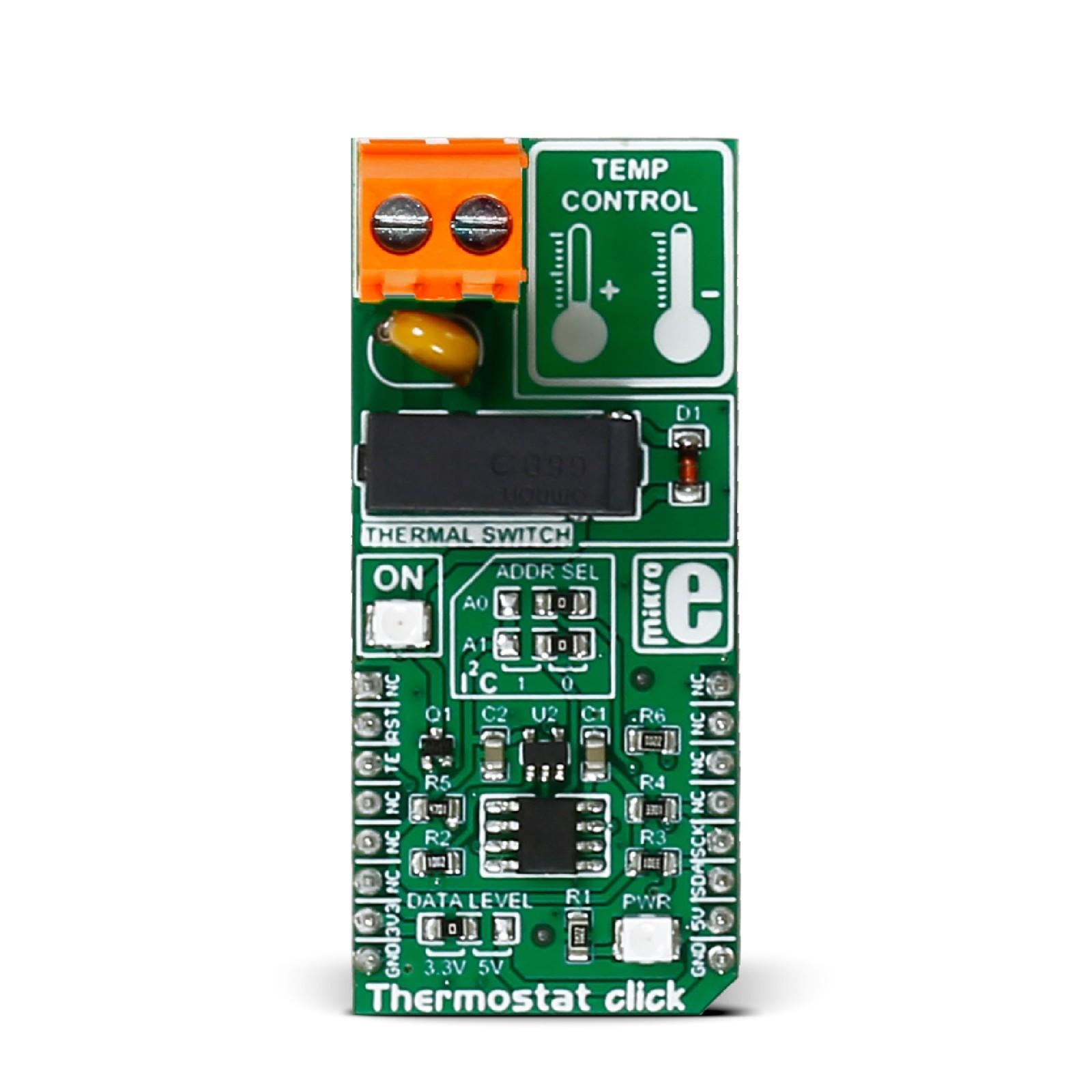 Thermostat click — board with MAX7502 digital temperature sensor
