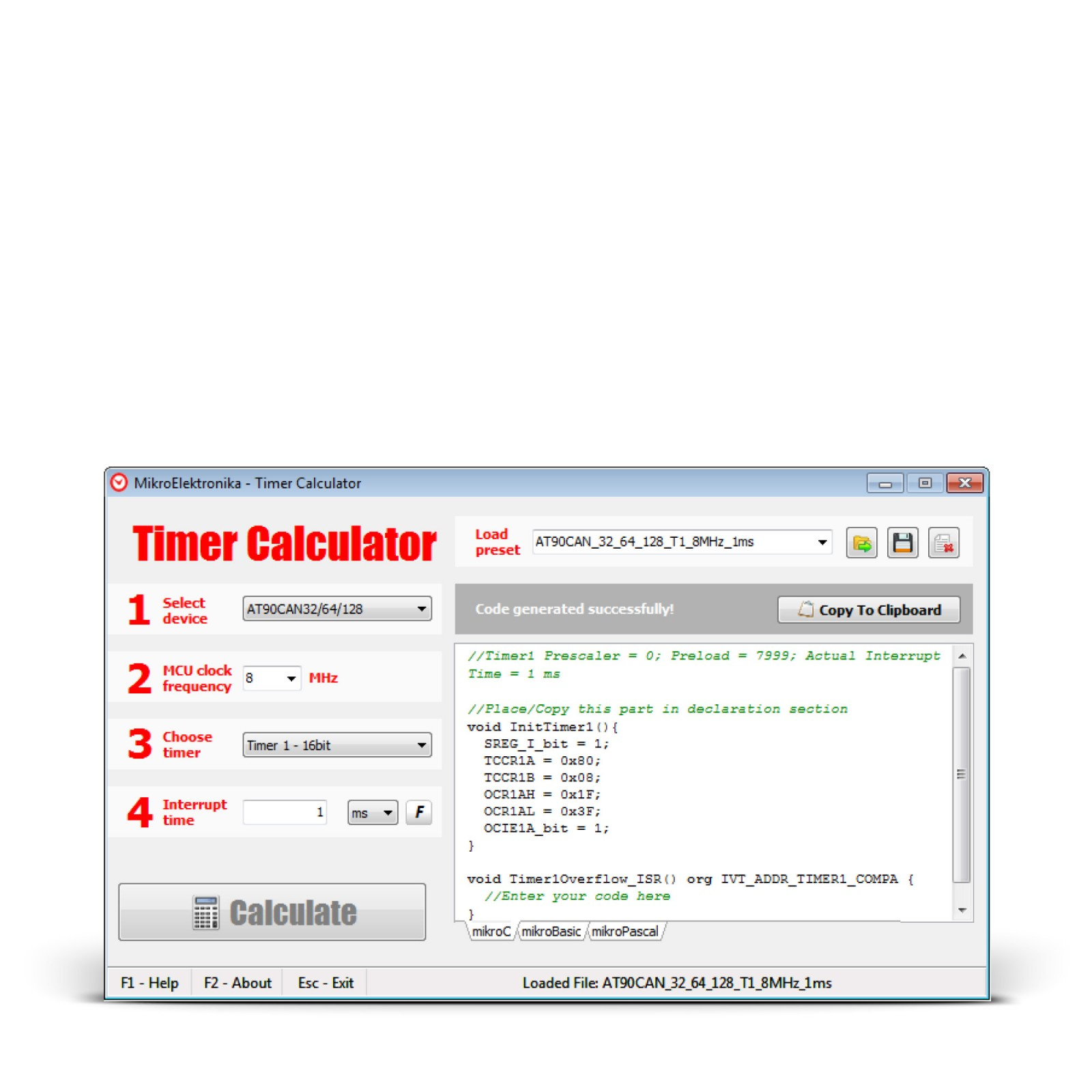 Timer calculator mikroelektronika tap to expand greentooth