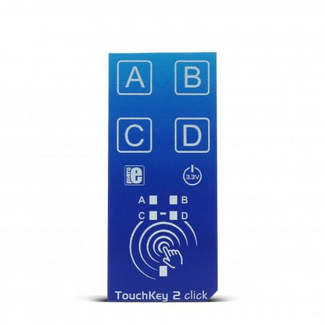 MikroElektronikas TouchKey 2 click blue color, front