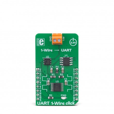MikroE Click Boards Interface UART 1-Wire Click front