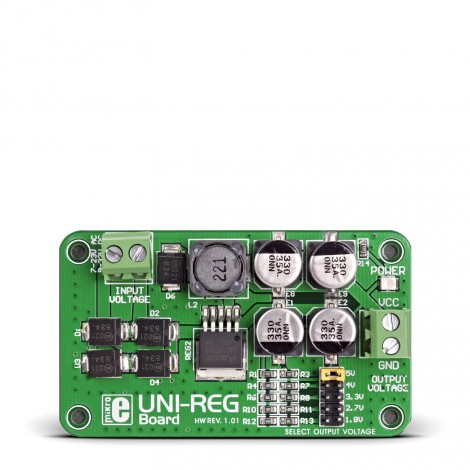 Mikroe Power Management UNI-REG Board