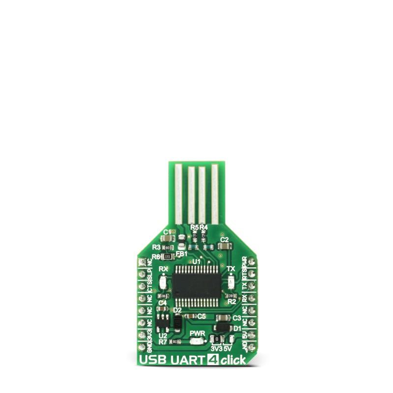 USB UART 4 click - USB-to-UART interface module | MikroElektronika