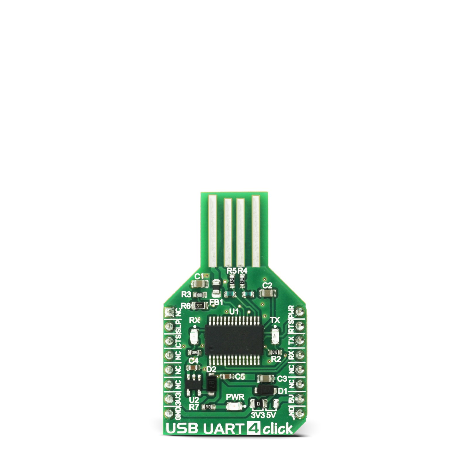 USB UART 4 click - USB-to-UART interface module