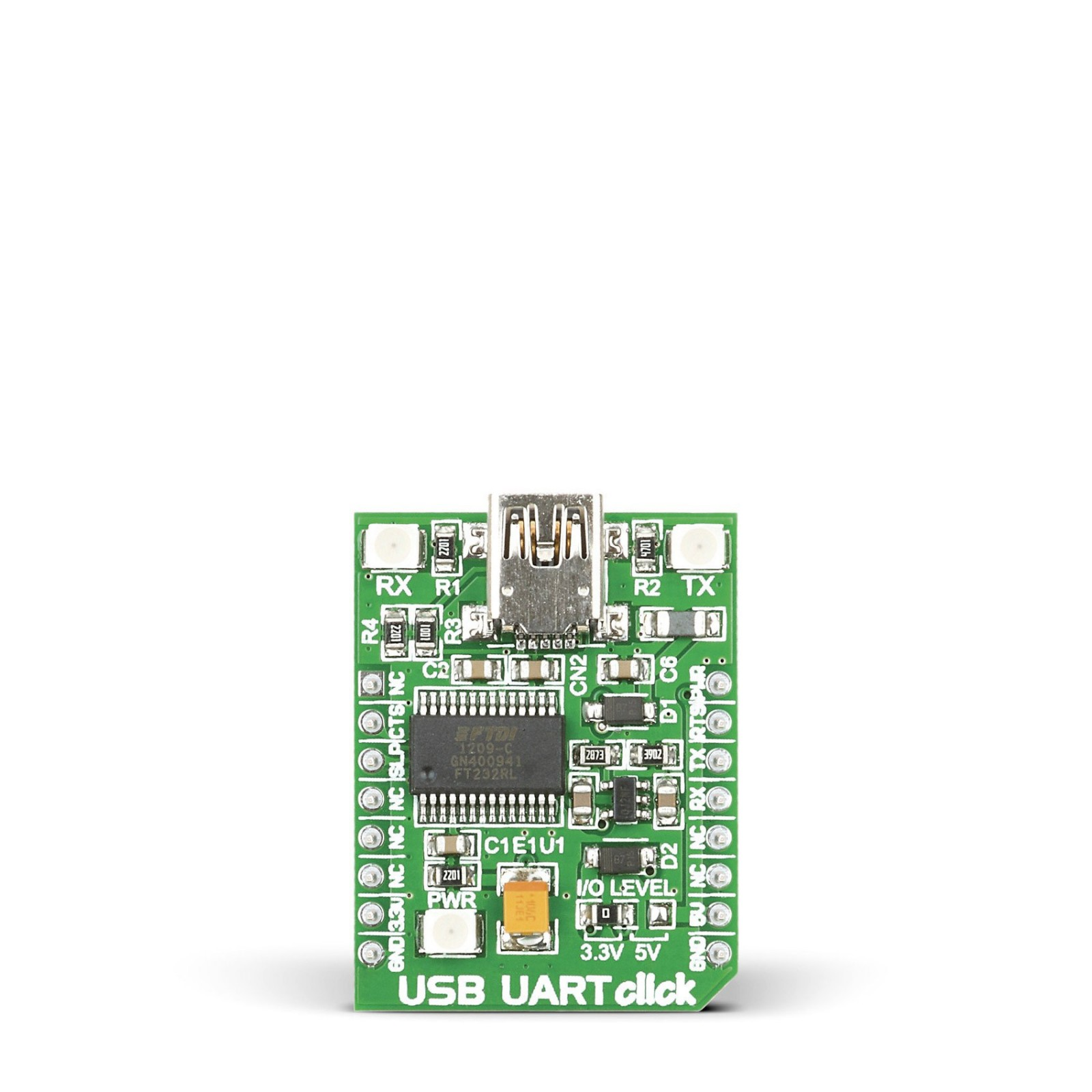 USB UART click - Breakout board for FT232RL chip