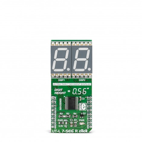 Mikroe Click Boards Display UT-L 7-SEG R click front