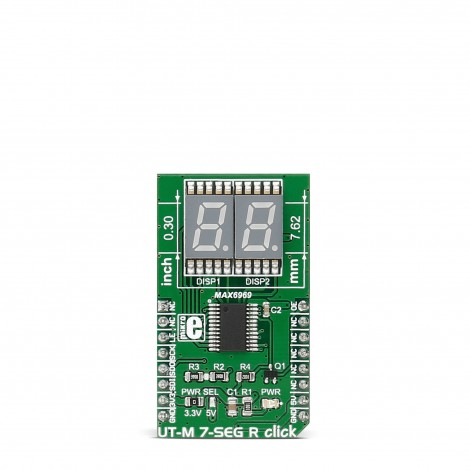 Mikroe Click Boards Display UT-M 7-SEG R click front