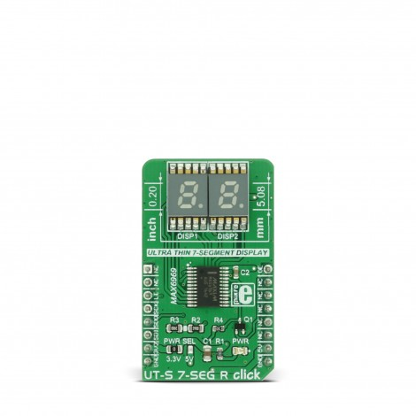 Mikroe Click Boards Display UT-S 7-SEG R click front