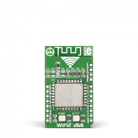 MikroE Click Boards Wireless Connectivity WiFi2 click front