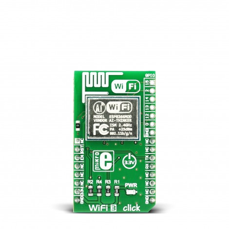 MikroE Click Boards Wireless Connectivity WiFi3 click front