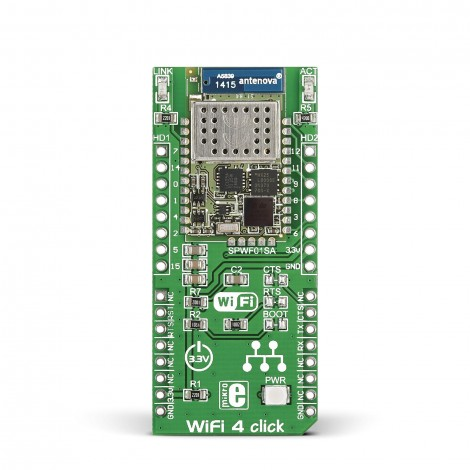 MikroE Click Boards Wireless Connectivity WiFi 4 click front