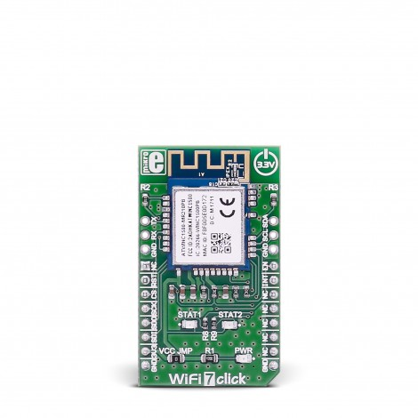 MikroE Click Boards Wireless Connectivity WiFi 7 click front