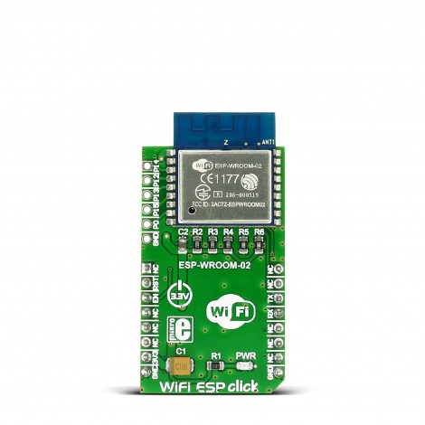 MikroE Click Boards Wireless Connectivity WiFi ESP click front