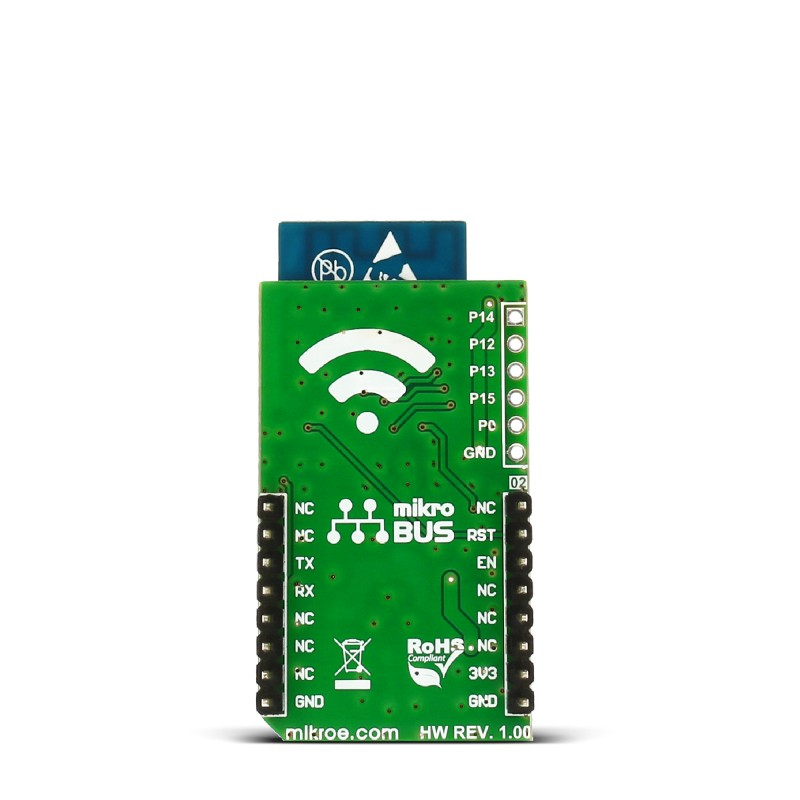 wifi esp click board that carries the esp wroom 02 module rh mikroe com