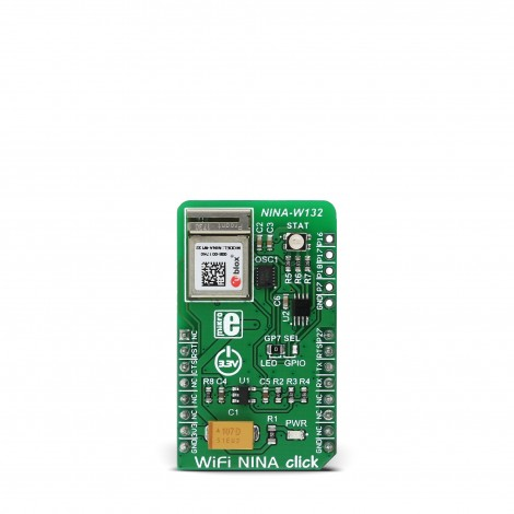 MikroE Click Boards Wireless Connectivity WiFi NINA click front