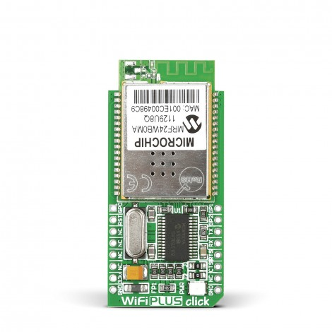 MikroElektronika Click Boards Wireless Connectivity WiFi PLUS click front