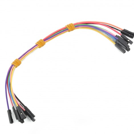 MikroElektronika Wire Jumpers Female to Female (30 cm length, 10pcs)
